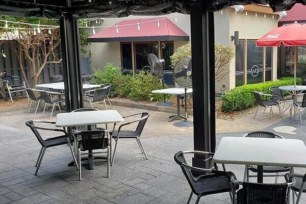 If you're thinking about outdoor dining, Frankie Bones has you covered
